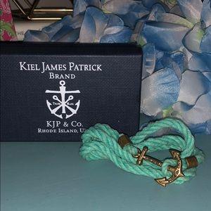 KJP Atlantic Whaler's Wrap Bracelet in Aqua Sz Sm